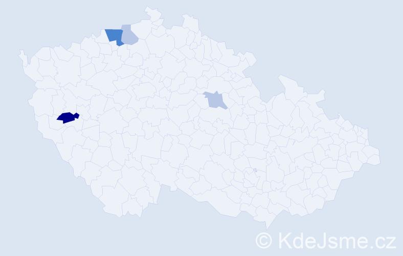 Příjmení: 'Chamola', počet výskytů 8 v celé ČR