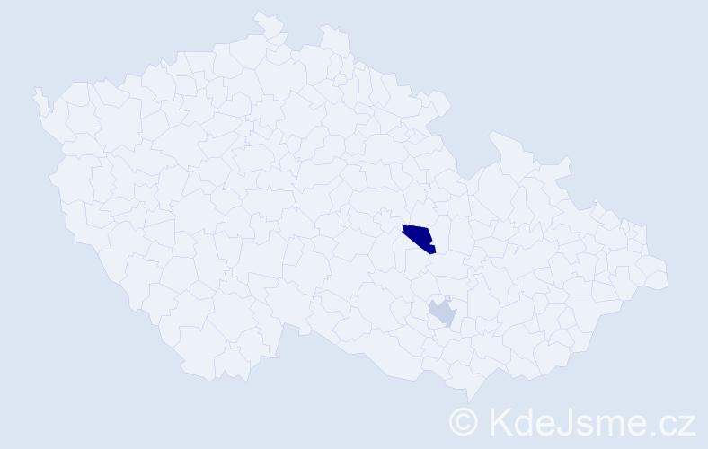 Příjmení: 'Karmaš', počet výskytů 4 v celé ČR