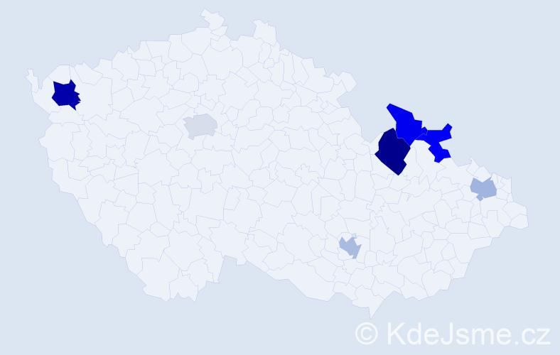 Příjmení: 'Akritidisová', počet výskytů 9 v celé ČR