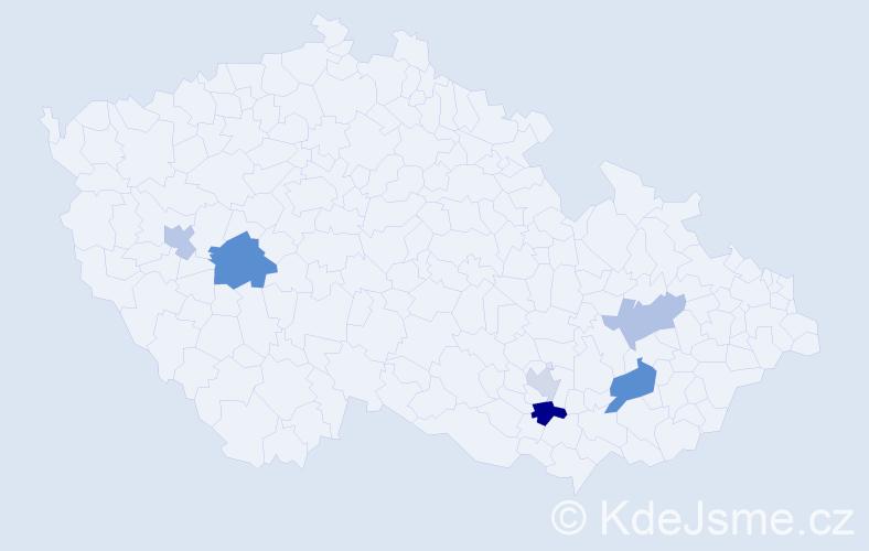 Příjmení: 'Čupalka', počet výskytů 9 v celé ČR