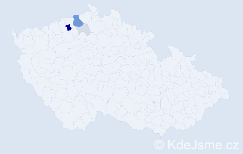 Příjmení: 'Čisarová', počet výskytů 16 v celé ČR