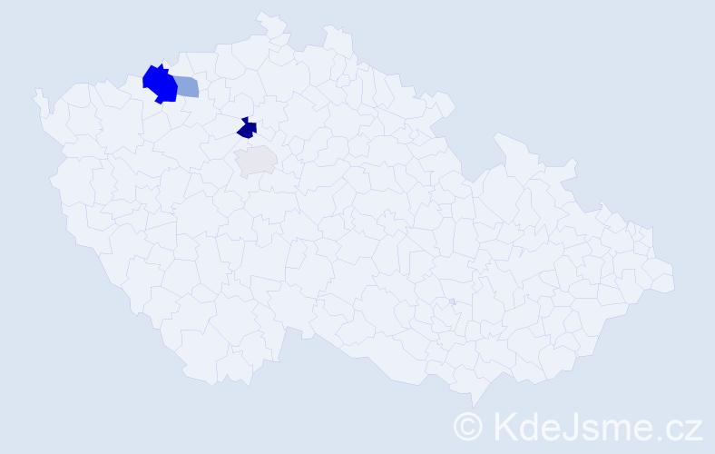 Příjmení: 'Elexa', počet výskytů 16 v celé ČR