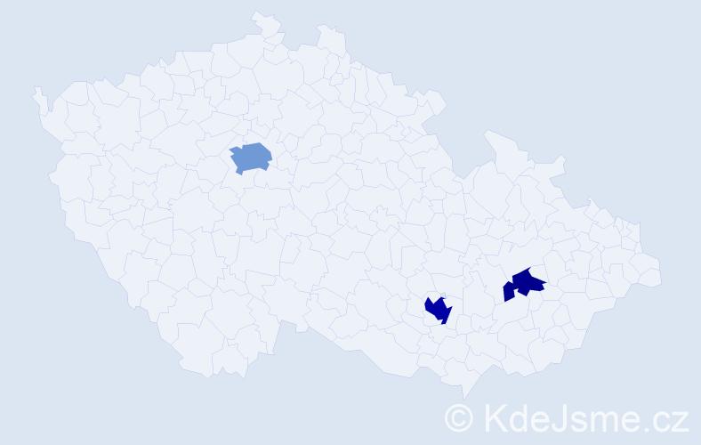 Příjmení: 'Galanda', počet výskytů 7 v celé ČR