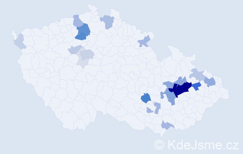 Příjmení: 'Lenert', počet výskytů 79 v celé ČR