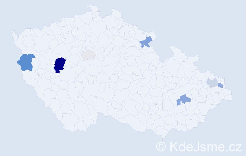 Příjmení: 'Karník', počet výskytů 9 v celé ČR
