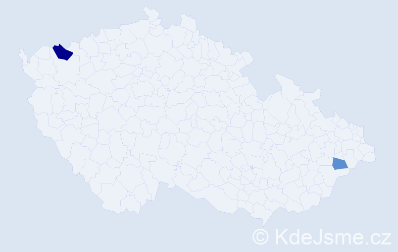 Příjmení: 'Babek', počet výskytů 3 v celé ČR