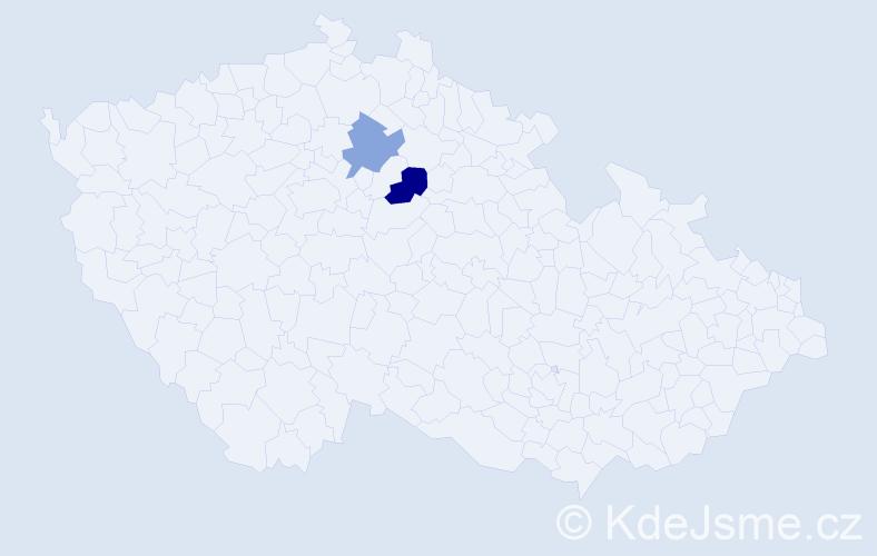 Příjmení: 'Felkrová', počet výskytů 10 v celé ČR