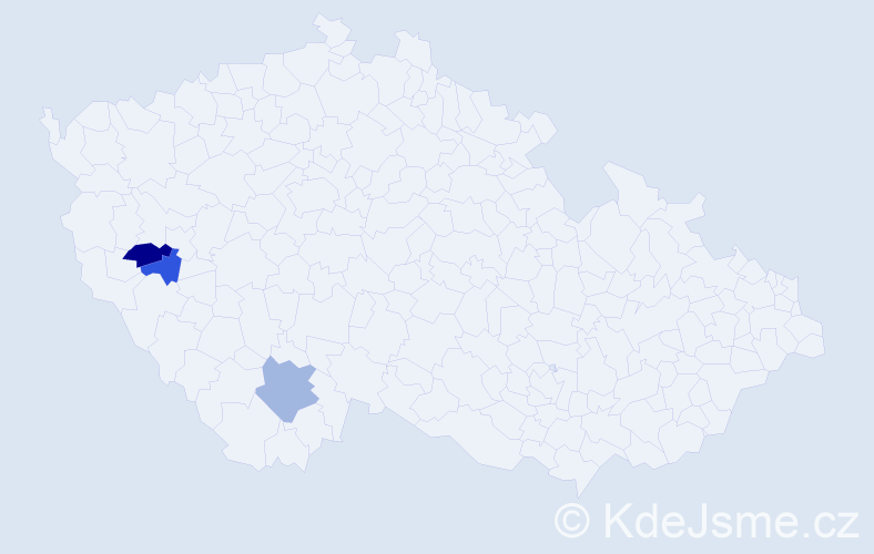 Příjmení: 'Fekl', počet výskytů 12 v celé ČR
