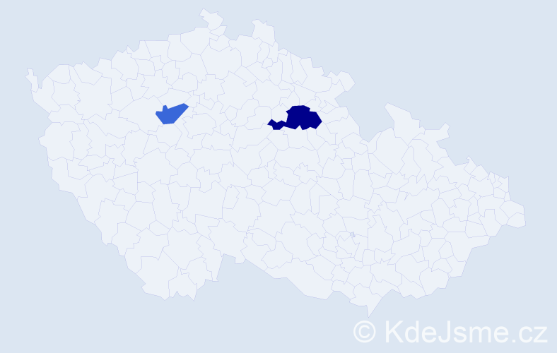 Příjmení: 'Čerget', počet výskytů 3 v celé ČR