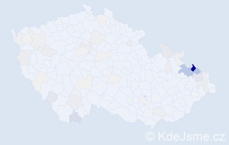 Příjmení: 'Harazimová', počet výskytů 234 v celé ČR