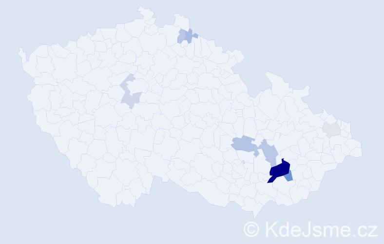 Příjmení: 'Jablunková', počet výskytů 37 v celé ČR