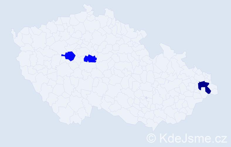 Příjmení: 'Hadzima', počet výskytů 4 v celé ČR