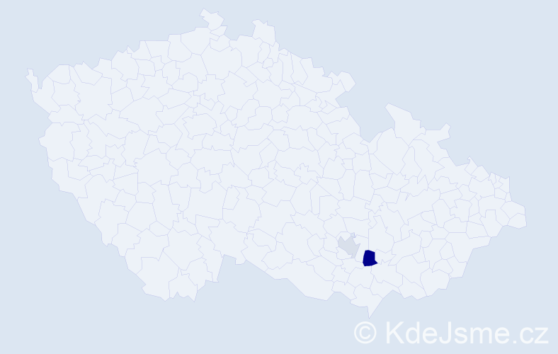 Příjmení: 'Gzela', počet výskytů 3 v celé ČR