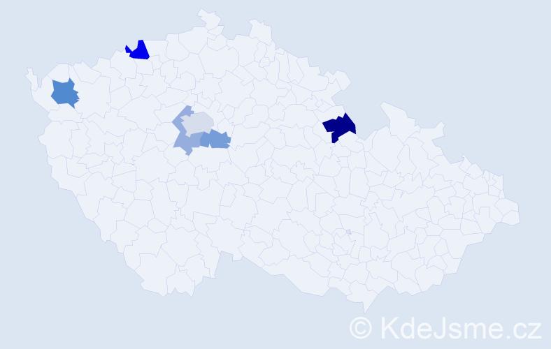 Příjmení: 'Čuchran', počet výskytů 10 v celé ČR