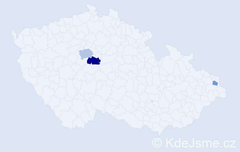 Příjmení: 'Jamrózová', počet výskytů 6 v celé ČR