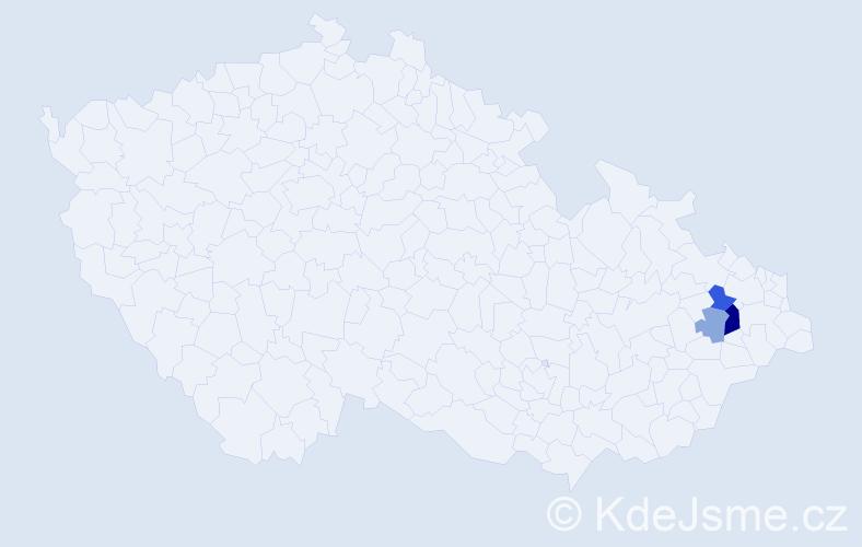 Příjmení: 'Kőtt', počet výskytů 13 v celé ČR