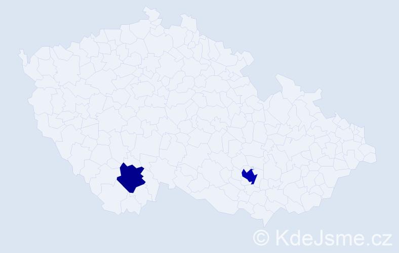 Příjmení: 'Ibragimov', počet výskytů 3 v celé ČR