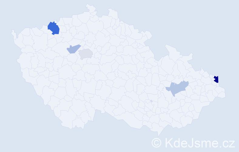 Příjmení: 'Laban', počet výskytů 12 v celé ČR