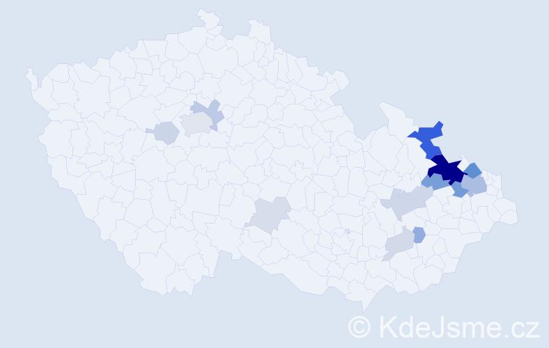Příjmení: 'Balnerová', počet výskytů 53 v celé ČR