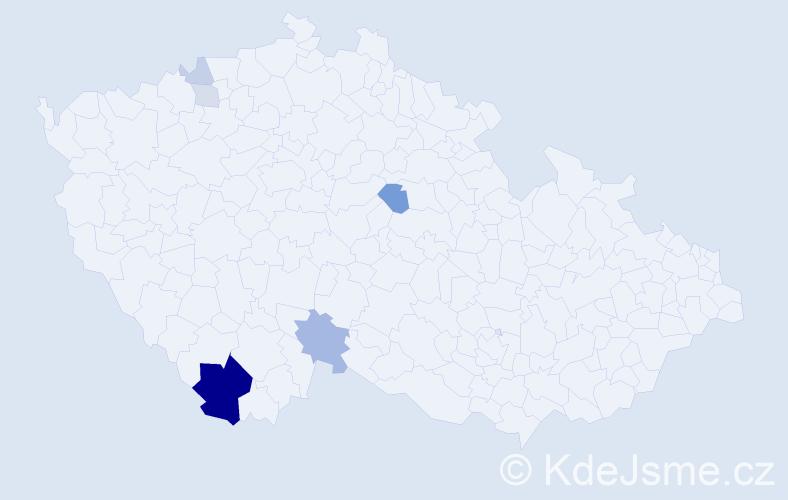 Příjmení: 'Hammerlindl', počet výskytů 17 v celé ČR