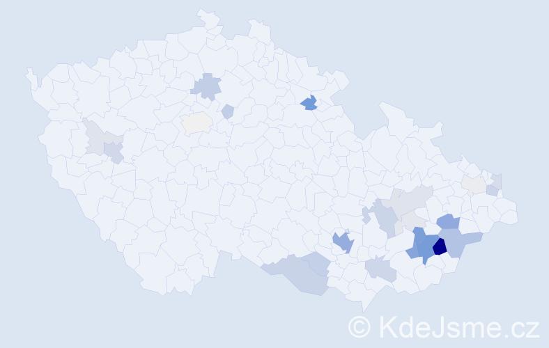 Příjmení: 'Čižmář', počet výskytů 86 v celé ČR