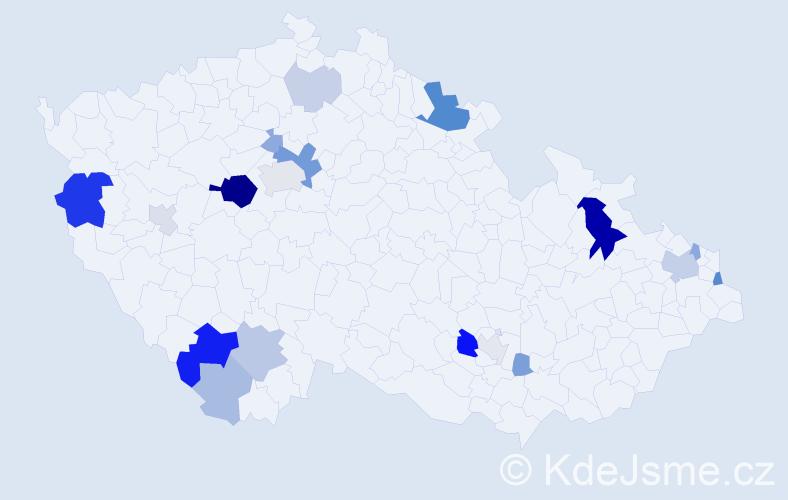 Příjmení: 'Foltín', počet výskytů 52 v celé ČR