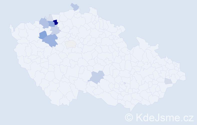 Příjmení: 'Emingrová', počet výskytů 42 v celé ČR