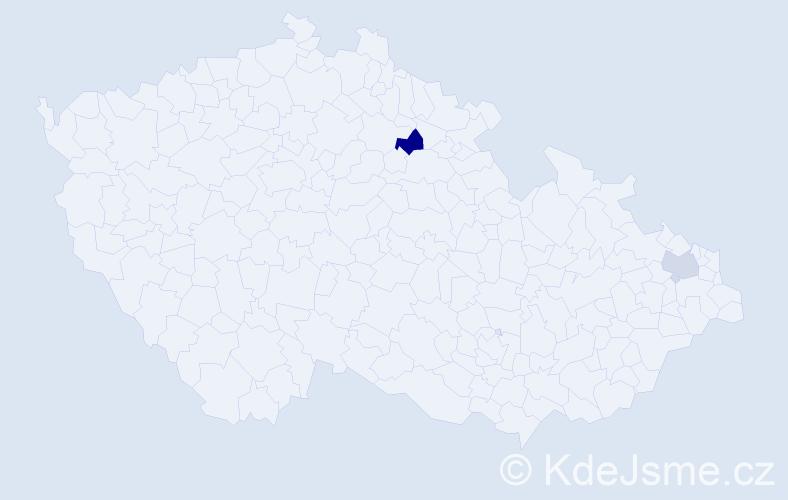 Příjmení: 'Fiutowská', počet výskytů 5 v celé ČR