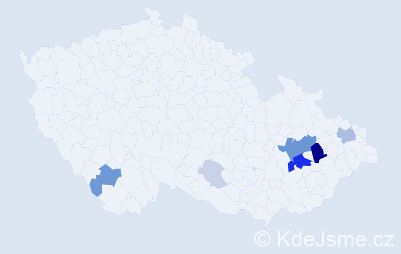 Příjmení: 'Dreiseitel', počet výskytů 30 v celé ČR