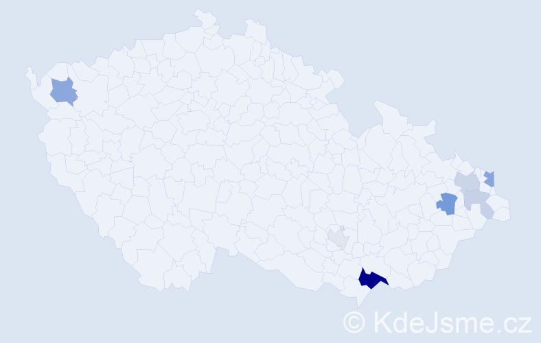 Příjmení: 'Glöckl', počet výskytů 18 v celé ČR