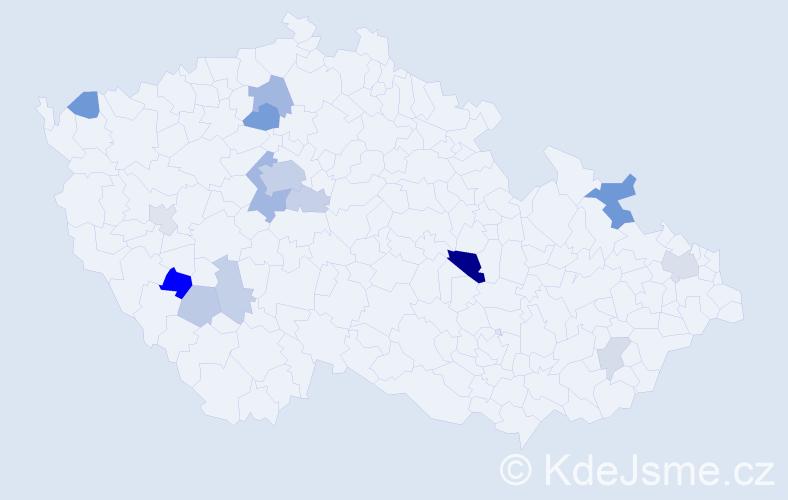 Příjmení: 'Kalinovská', počet výskytů 37 v celé ČR