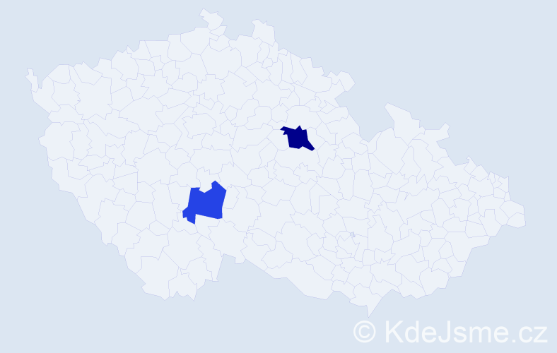 Příjmení: 'Amor', počet výskytů 3 v celé ČR