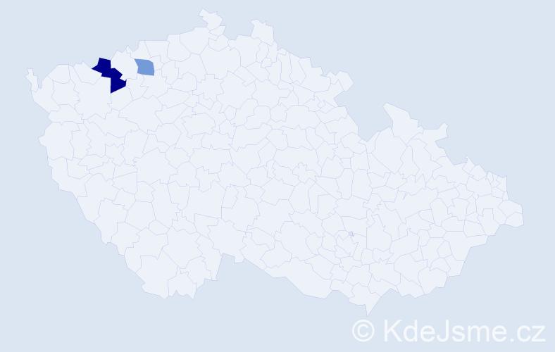 Příjmení: 'Halberstátová', počet výskytů 3 v celé ČR