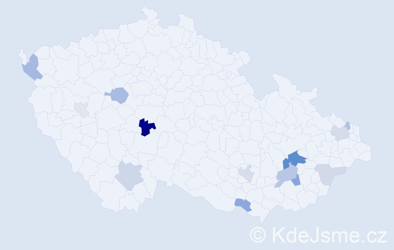 Příjmení: 'Grňa', počet výskytů 31 v celé ČR
