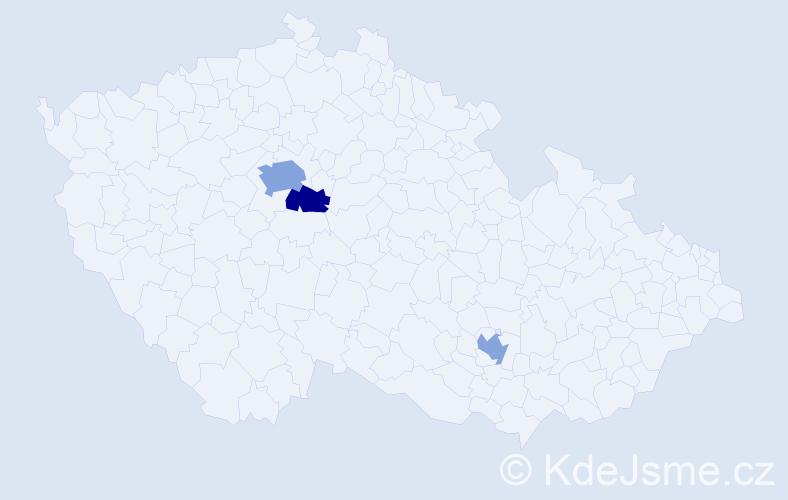 Příjmení: 'Haushalter', počet výskytů 5 v celé ČR
