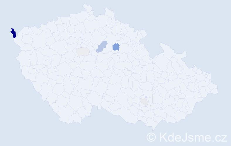 Příjmení: 'Maher', počet výskytů 9 v celé ČR