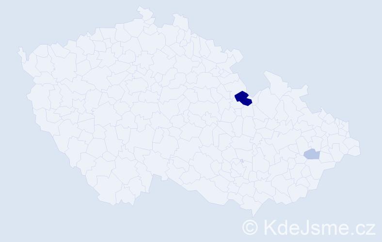 Příjmení: 'Kerschbaum', počet výskytů 7 v celé ČR