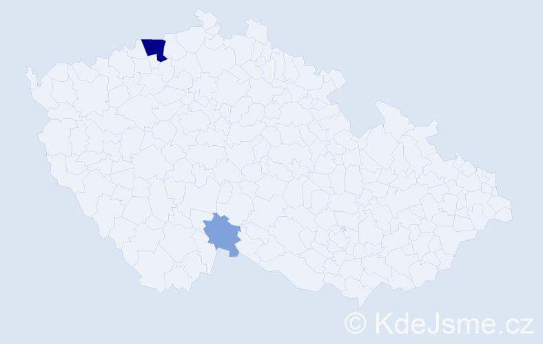 Příjmení: 'Braune', počet výskytů 8 v celé ČR