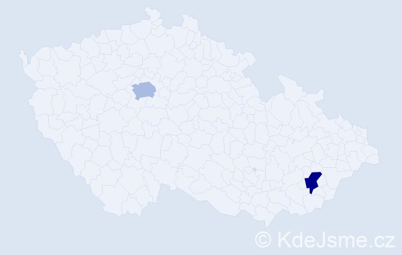 Příjmení: 'Lerlová', počet výskytů 11 v celé ČR