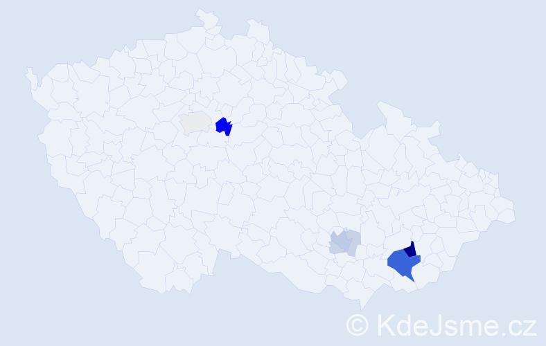 Příjmení: 'Dujíček', počet výskytů 27 v celé ČR