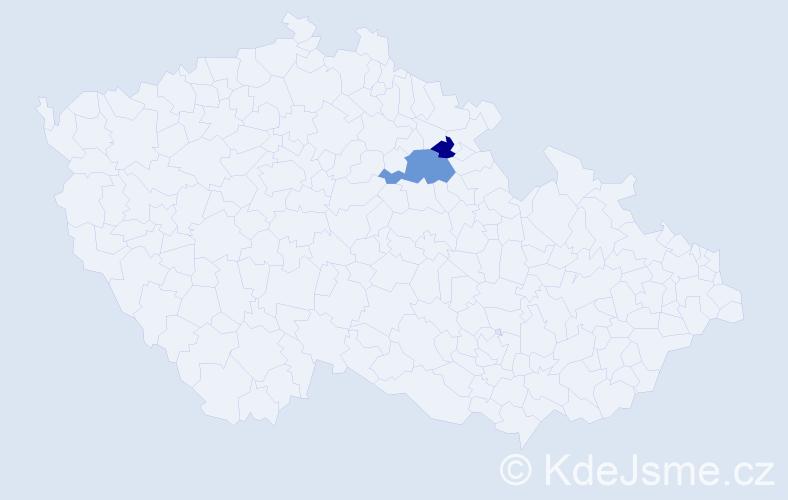Příjmení: 'Kendžierská', počet výskytů 3 v celé ČR
