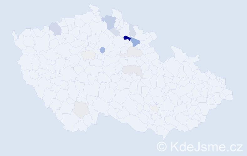 Příjmení: 'Bäumelt', počet výskytů 31 v celé ČR