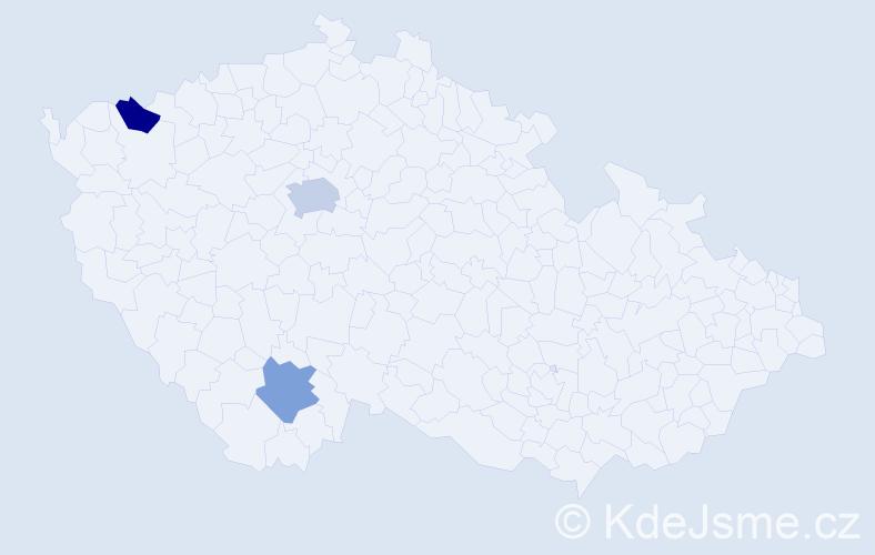 Příjmení: 'Galivoda', počet výskytů 4 v celé ČR