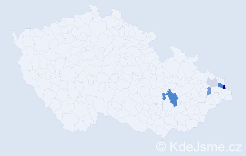 Příjmení: 'Czopnik', počet výskytů 10 v celé ČR