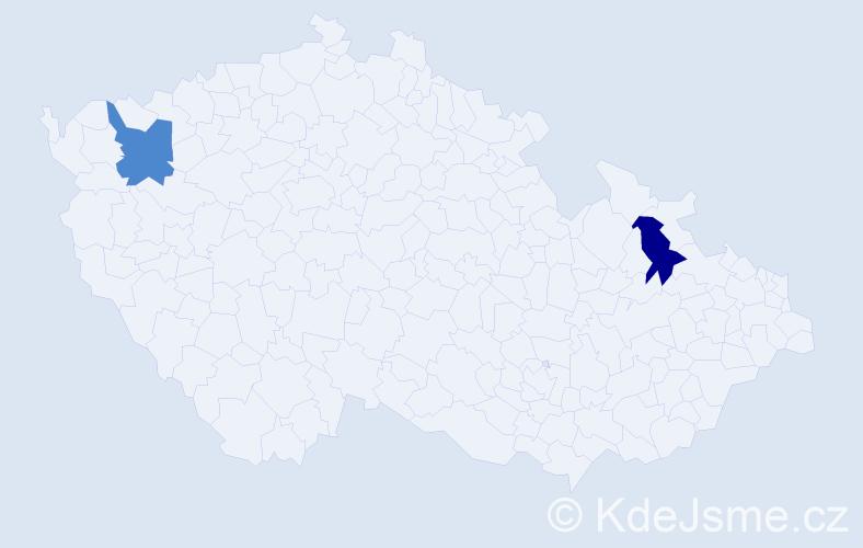 Příjmení: 'Čukalovčáková', počet výskytů 2 v celé ČR