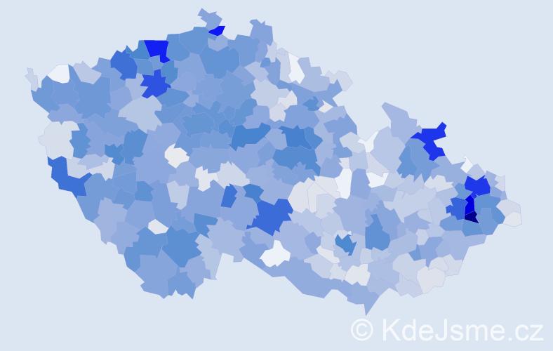 Příjmení: 'Holubová', počet výskytů 6615 v celé ČR