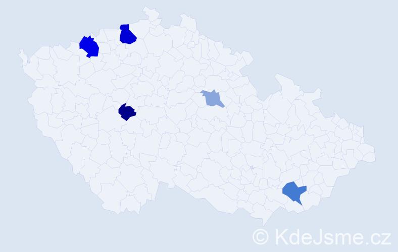 Příjmení: 'Áronová', počet výskytů 11 v celé ČR
