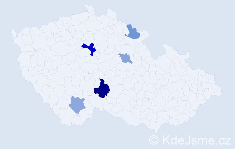 Příjmení: 'Jeněk', počet výskytů 8 v celé ČR