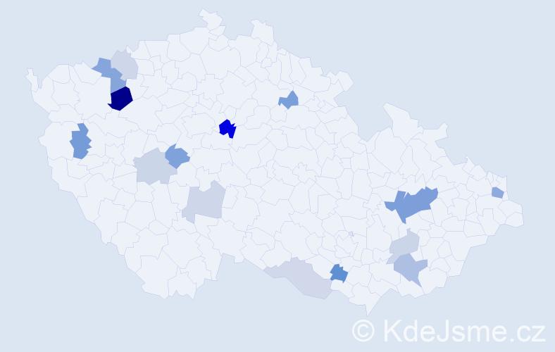 Příjmení: 'Gerši', počet výskytů 28 v celé ČR
