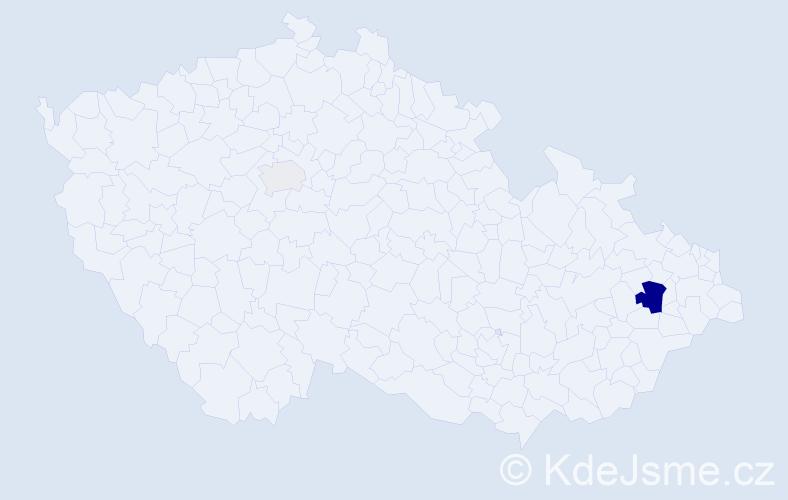 Příjmení: 'Jobbík', počet výskytů 6 v celé ČR